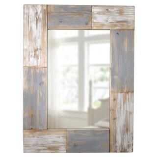 FirsTime® Mason Planks Mirror - Grey