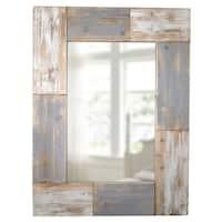 FirsTime Grey Wood Mason Planks Wall Mirror
