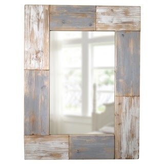 FirsTime® Mason Planks Mirror - Grey - N/A