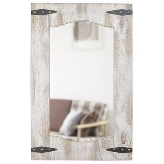 FirsTime® Barn Door Mirror - Off White