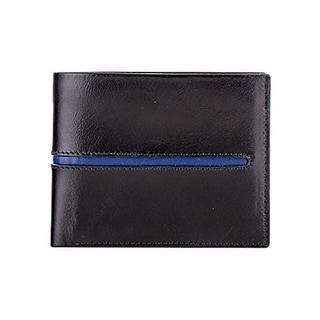 Visconti AER-29 Aero Genuine Leather Mens Bi-Fold Wallet w/Coin Pouch