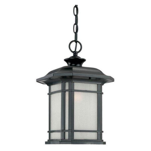 Acclaim Lighting Somerset 1 Light Matte Black Outdoor Post: Shop Acclaim Lighting Somerset Collection Hanging Lantern