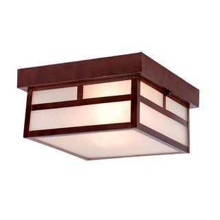 Acclaim Lighting Artisan Collection Ceiling-Mount 2-Light Outdoor Architectural Bronze Light Fixture