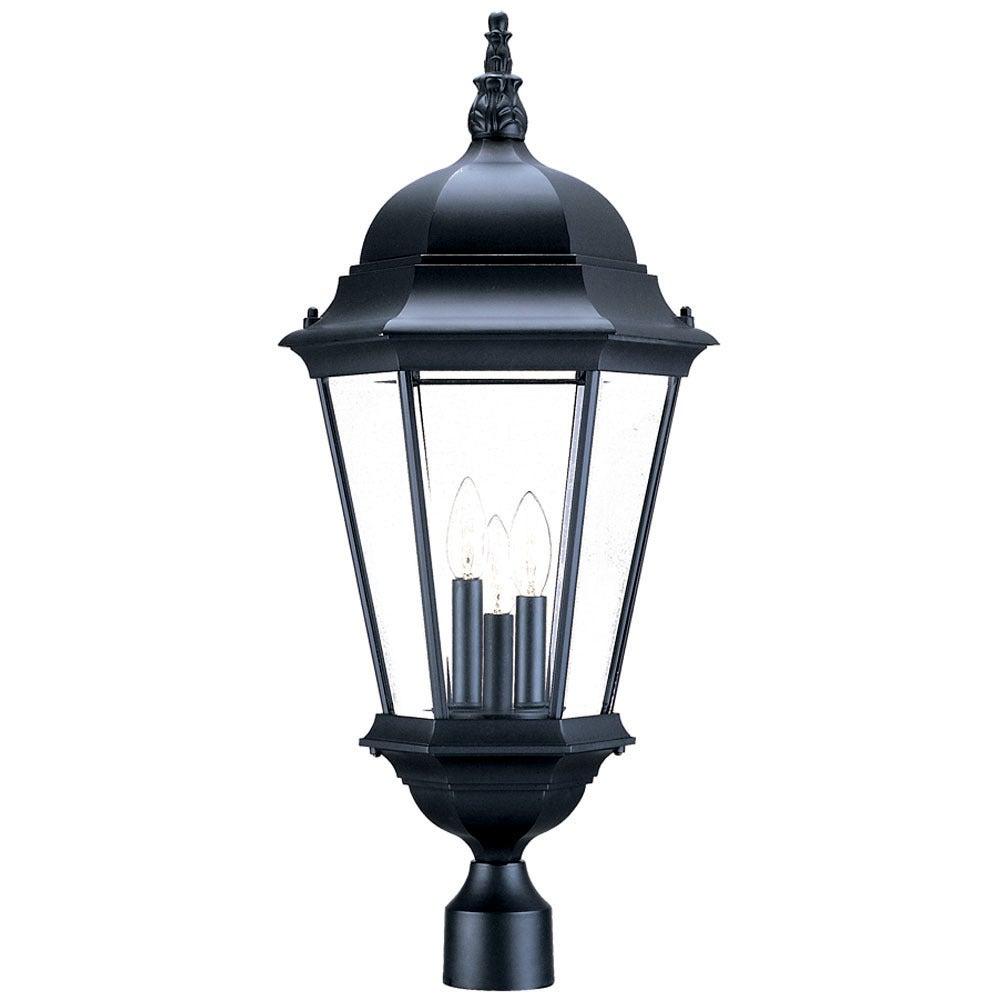 Acclaim Lighting Richmond Collection Post Mount 3 Light Outdoor Matte Black Light Fixture Overstock 18542359