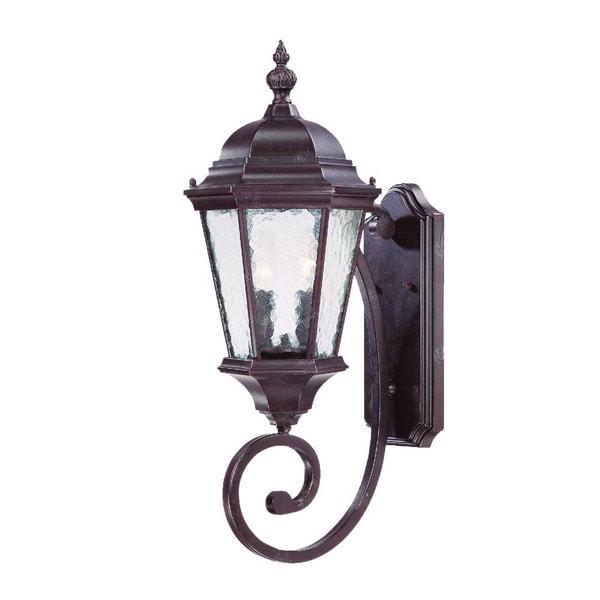 Acclaim Lighting Telfair Collection Wall-Mount 2-Light Outdoor Marbleized Mahogany Light Fixture