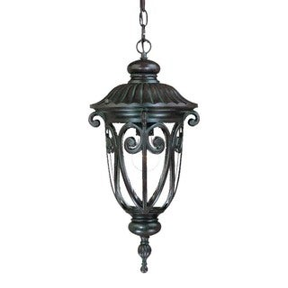Acclaim Lighting Naples Collection Hanging Lantern 1-Light Outdoor Marbleized Mahogany Light Fixture