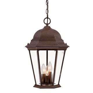 Acclaim Lighting Richmond Collection Hanging Lantern 3-Light Outdoor Burled Walnut Light Fixture