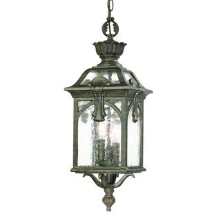Acclaim Lighting Belmont Collection Hanging Lantern 3-Light Outdoor Black Coral Light Fixture