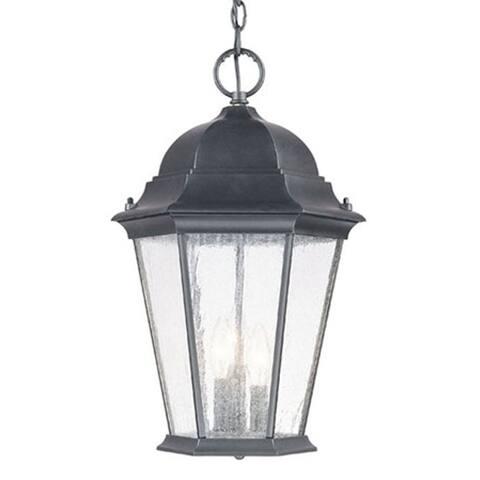 Richmond 3-light Matte Black Outdoor Hanging Lantern