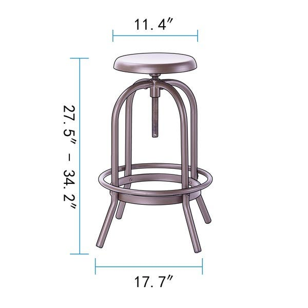 Swell Shop Coruvs Rochelle Industrial Adjustable Swivel Bar Stools Machost Co Dining Chair Design Ideas Machostcouk