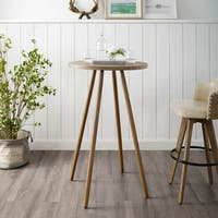Corvus Lille Mid-century Bamboo Bar Table