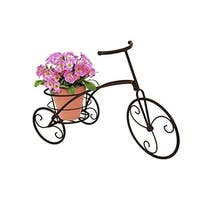 Bicycle Single Flower Pot Holder - Bronze