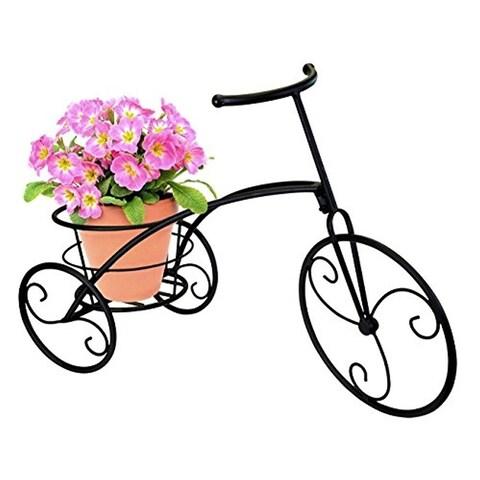 Bicycle Single Flower Pot Holder - Black