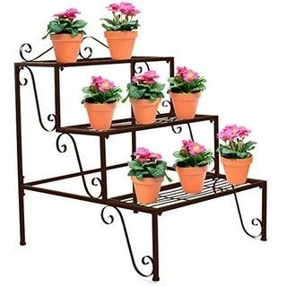 3 Step Flower Stand - Bronze