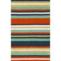 "Liora Manne Sorrento Tribeca Indoor/Outdoor Rug Water 7'6""X9'6"""