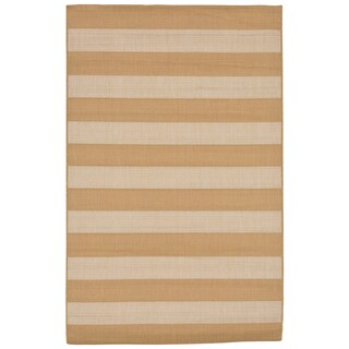 Broad Stripe Outdoor Rug - 7'10 x 9'10 (Option: Almond)