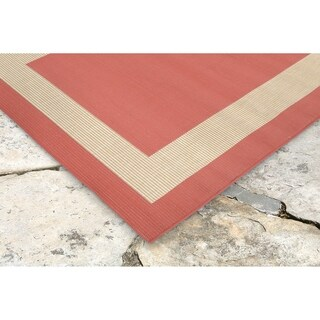 Frame Border Outdoor Rug (7'10 x 9'10)