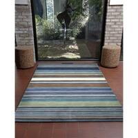 Stripes Hand-tufted Wool Indoor Rectangular Rug (9' x 12')
