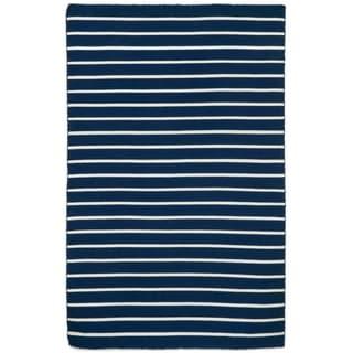 Liora Manne Sorrento Pinstripe Stripe Outdoor Rug (8'3 x 11'6)