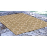"Liora Manne Tulum Geo Indoor/Outdoor Rug Almond 7'10""X9'10"""