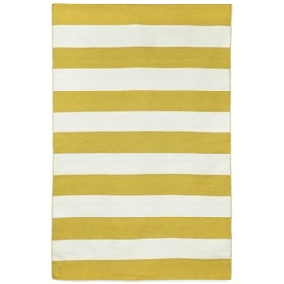 Wide Stripe Synthetic Outdoor Area Rug (8'3 x 11'6)