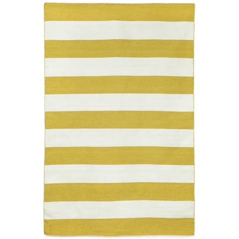 Liora Manne Sorrento Rugby Stripe Indoor/Outdoor Rug