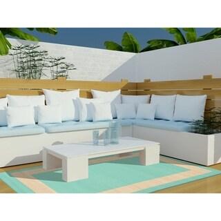 Liora Manne Tulum Border Indoor/Outdoor Rug Almond 23X76 (Green/Grey)