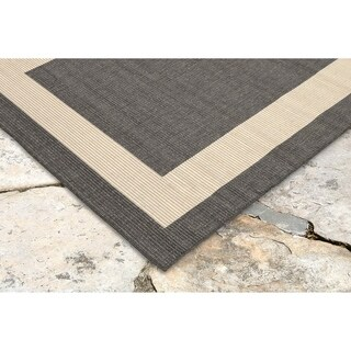 Frame Border Outdoor Rug (1'11 x 7'6) - 1'11 x 7'6