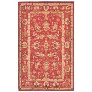 Mevlana Red Cotton Oriental Rug (4' 8 x 7' 6)
