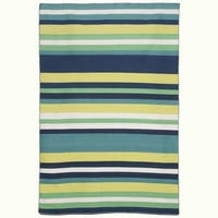 Liora Manne Sorrento Tribeca Indoor/Outdoor Rug Water 5'X7'6""