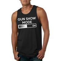 Gun Show Mode On Tank Top Funny Workout Flex Muscle Gym Humor Sleeveless Shirt