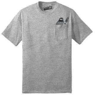 Pocket Sloth T Shirt Cute Funny Peeking Animal Tee With Print in the Pocket
