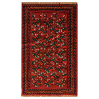 Handmade One-of-a-Kind Balouchi Wool Rug (Afghanistan) - 2'8 x 4'6