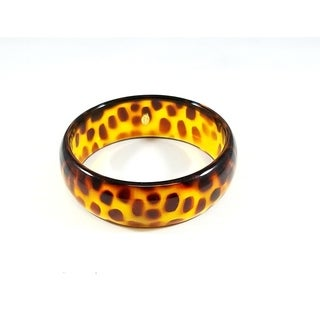 Kenneth Jay Lane Tortoise Print Resin Bangle Bracelet - Brown