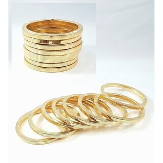 Kenneth Jay Lane Polished Gold 8 Stack Bracelet