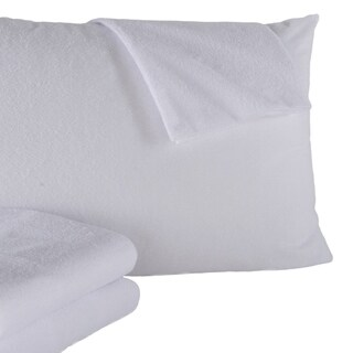 4 Pack 100% Waterproof Cotton Pillow Protector and Pillow Cases