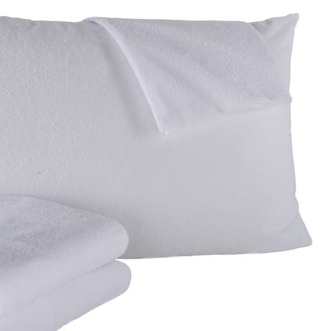 2 Pack 100% Waterproof Cotton Pillow Protectors/Pillow Cases