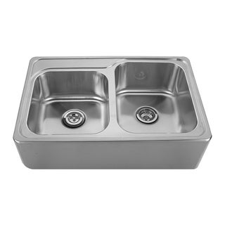 Whitehaus Collection Noah's Drop-in Apron Front Sink