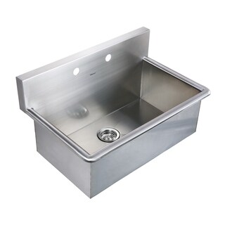 Whitehaus Collection Commercial Drop-in or Wall Mount Utility Sink