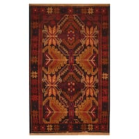 Handmade Herat Oriental Afghan Hand-knotted Tribal Balouchi Wool Rug (2'8 x 4'6)