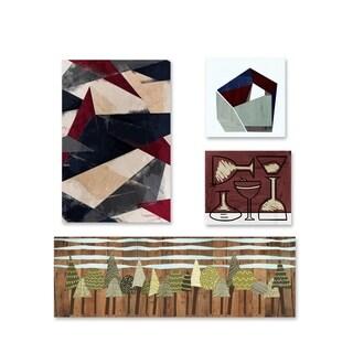 Oliver Gal 'Mid Century Set of 4' Canvas Art