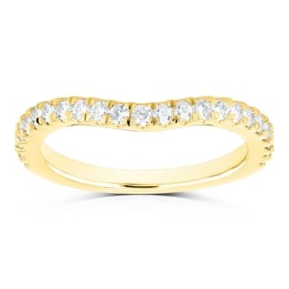 Annello by Kobelli 14k Gold 1/3ct TDW Diamond Curved Wedding Band|https://ak1.ostkcdn.com/images/products/18543215/P24649067.jpg?impolicy=medium