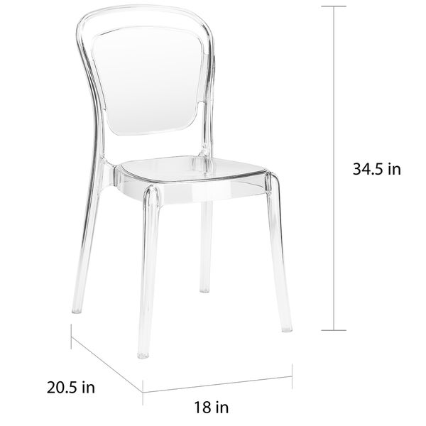 Poly and Bark Lucent Dining Side Chair (Set of 4)