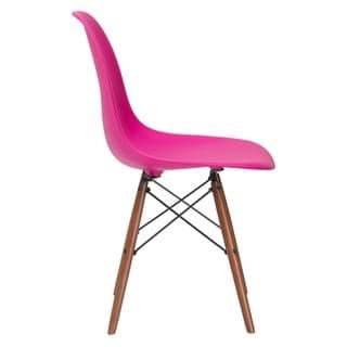Poly and Bark Vortex Side Chair Walnut Legs - 21L x 18.5W x 32.5H (Pink)