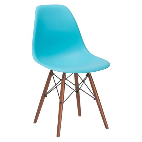 "Edgemod Vortex Side Chair Walnut Legs - 21""L x 18.5""W x 32.5""H"
