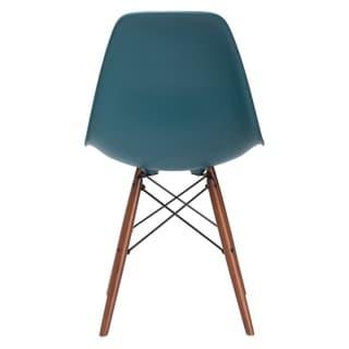 Poly and Bark Vortex Side Chair Walnut Legs - 21L x 18.5W x 32.5H (Teal)