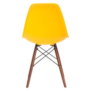 Poly and Bark Vortex Side Chair Walnut Legs