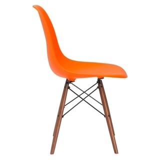 """Poly and Bark Vortex Side Chair Walnut Legs - 21""""L x 18.5""""W x 32.5""""H"""