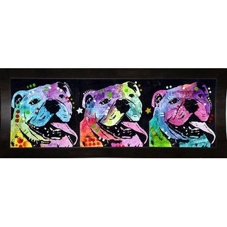 """3 Bulldogs Framed Print 3.75""""x11"""" by Dean Russo"""