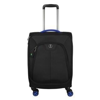 Swissdigital Geneva Upright Carry-on 20-inch Suitcase in Black